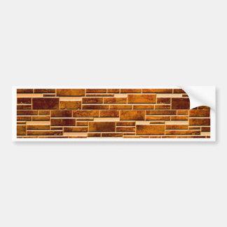 integration of random and regular wall brick bumper stickers