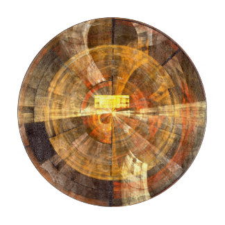 Integrity Abstract Art Circle Cutting Board