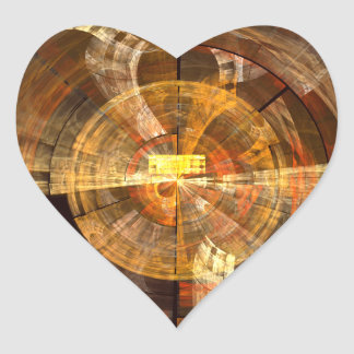 Integrity Abstract Art Heart Sticker