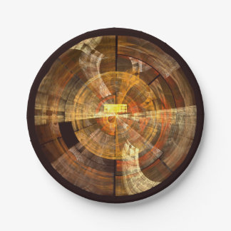 Integrity Abstract Art Paper Plate