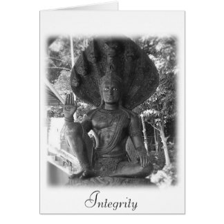 Integrity Buddha Quote Greeting Card