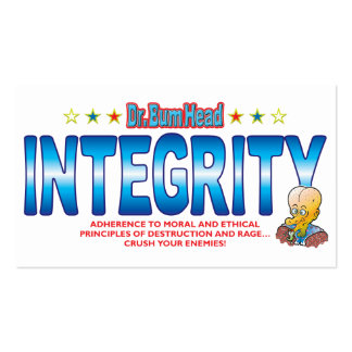 Integrity Dr Bum Head Business Card Templates