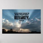 Integrity Inspirational Poster Print