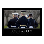 Integrity: Inspirational Quote Poster