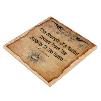 Integrity Of The Home Wood Coaster
