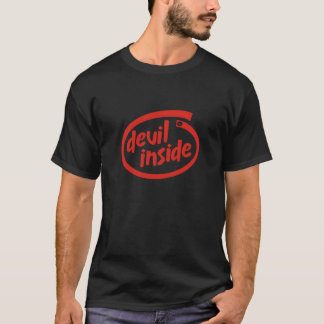 intel font - devil inside T-Shirt