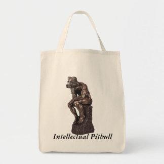 Intellectual Pitbull Tote Bag