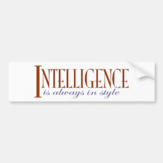 Intelligence Bumper Sticker