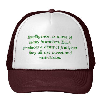 Intelligence, is a tree of many branches. Each ... Cap