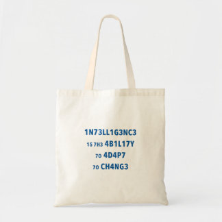 Intelligence Quote Budget Tote