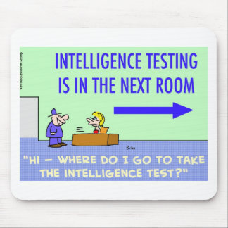 intelligence testing next room mouse pad