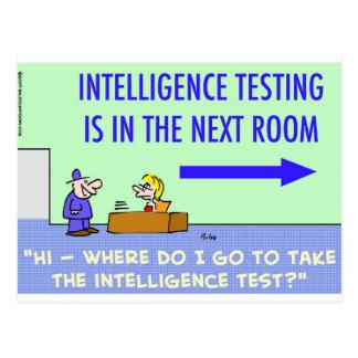 intelligence testing next room postcard