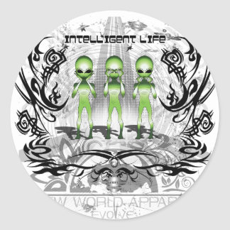 intelligentlife round sticker