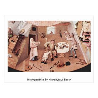Intemperance By Hieronymus Bosch Post Card