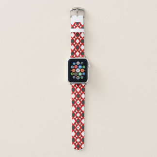 Intense Argyle Red Apple Watch Band