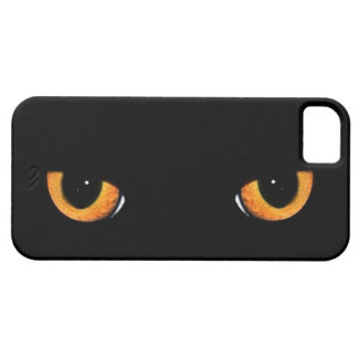 Intense Black Cat Eyes iPhone 5 Cases