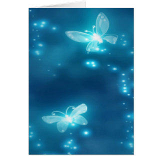Intense Blue, Glitter and Butterflies Card