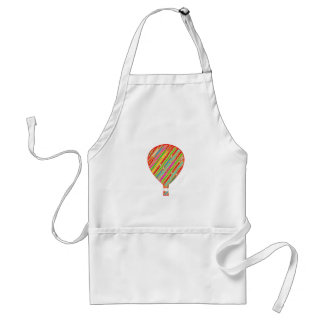 Intense Color ARTISTIC Stripes Balloons Adult Apron