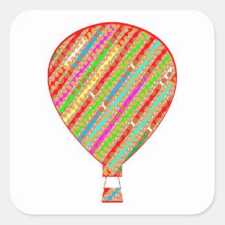 Intense Color ARTISTIC Stripes Balloons Square Sticker