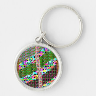 INTENSE Color Patterns Sparkles Giveaway GIFTS luv Silver-Colored Round Key Ring