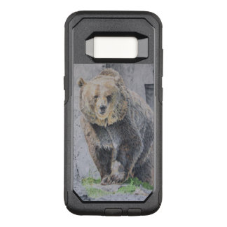 Intense Grizzly Bear Drawing OtterBox Commuter Samsung Galaxy S8 Case
