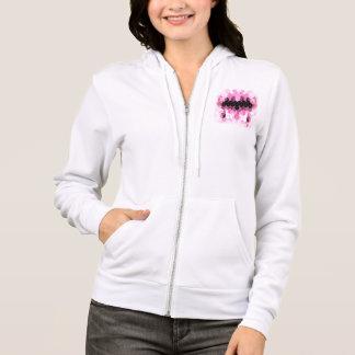 Intense Pink & Black Geometric Design Hoodie