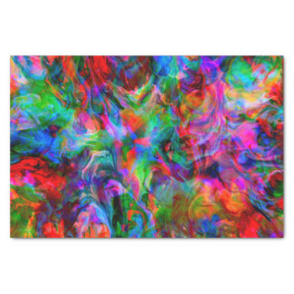 Intense Psychedelic Bright Color Swirl Tissue Paper