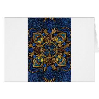 Intensity - contrast mandala pattern card