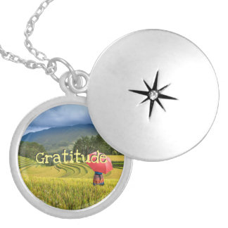 Intention of Gratitude Locket Necklace