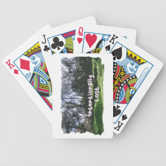 Intentionally Lost Bicycle Playing Cards