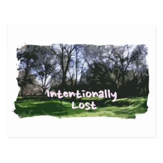 Intentionally Lost Postcard