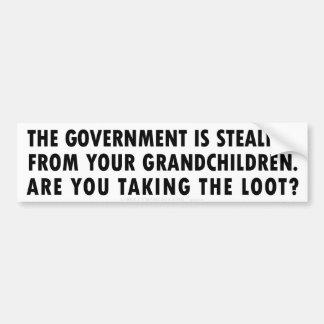 Inter-Generational Theft Bumper Sticker