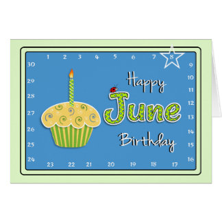 Interactive 'Move the Star' JUNE Birthday Card