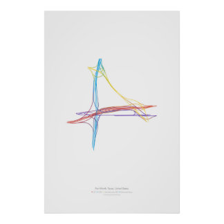 Interchange Choreography: Fort Worth, TX, US Poster