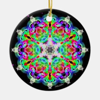 Interconnection/Alchemy of Joy Ceramic Ornament