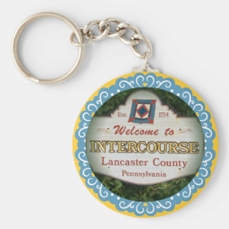 Intercourse Keychain! Lancaster PA Key Ring