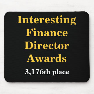 Interesting Finance Director Awards Joke Prize Mouse Pad