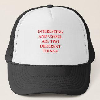 INTERESTING TRUCKER HAT