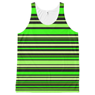 Interference (lime) All-Over print singlet