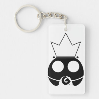 Intergalactic Super Gamer (Black logo) Double-Sided Rectangular Acrylic Key Ring