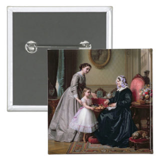 Interior at 'The Chestnuts' Wimbledon, Grandmother 15 Cm Square Badge
