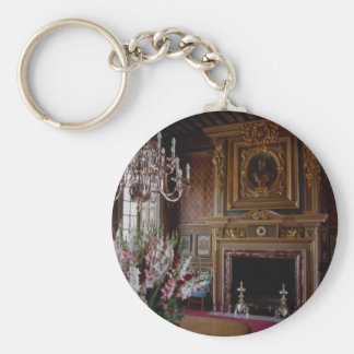 Interior, Chateau Chambord, Loire Valley, France Key Ring