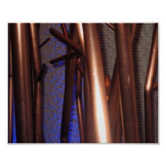INTERIOR Decorations- Copper Pipes Abstract Art Print