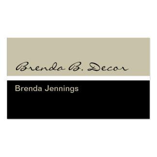 Interior Decorator Business Cards