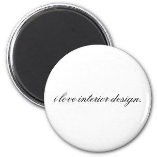 interior design 6 cm round magnet
