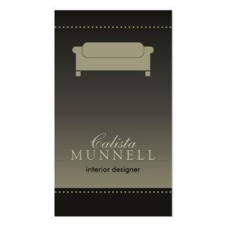Interior Design/Decorator Espresso Business Card