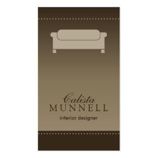 Interior Design/Decorator Mocha Business Card
