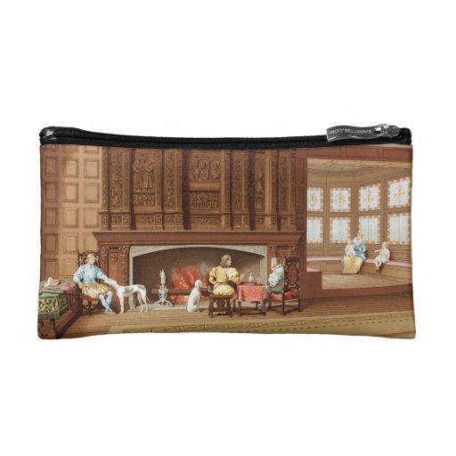 Interior Design Elizabethan Fireplace Vintage 1800 Makeup Bags