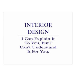 Interior Design .. Explain Not Understand Postcard