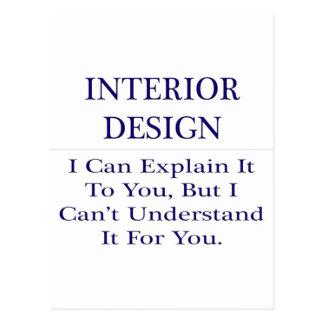 Interior Design .. Explain Not Understand Post Card